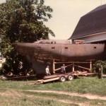 After a few small items were removed, like this 46'Ferro-Cement boat
